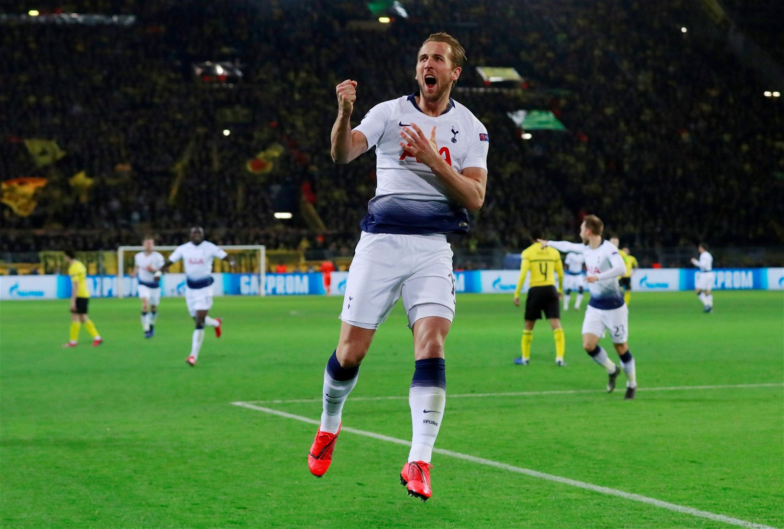 Harry Kane celebrates scoring for Tottenham against Borussia Dortmund - New dynamic: Major Spurs decision for 2019/20 season is staring Pochettino in the face - opinion