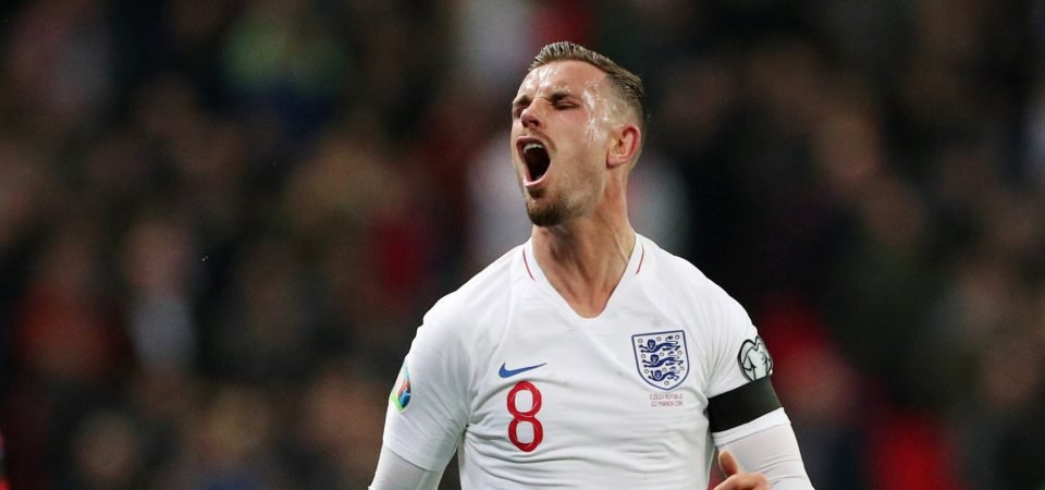 Liverpool captain Jordan Henderson posts on Instagram after England win