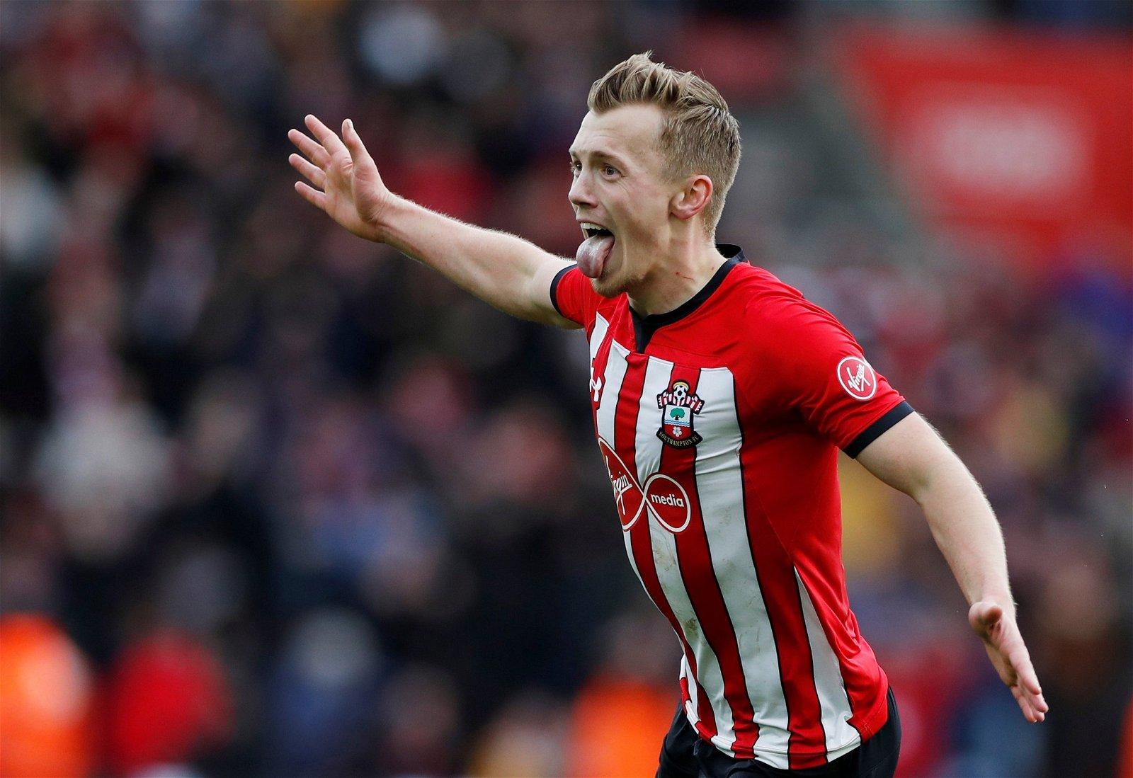 James Ward-Prowse celebrates for Southampton