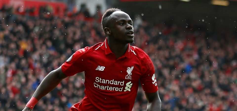 Fully deserved: Liverpool fans pay tribute to in-form Sadio Mane