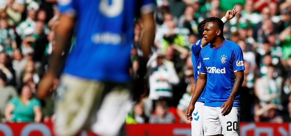Rangers fan slam Alfredo Morelos after his red card in the Old Firm Derby
