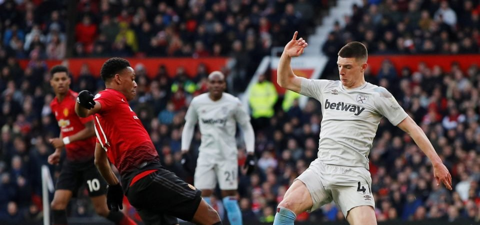 Man United fans call for Declan Rice after impressive display