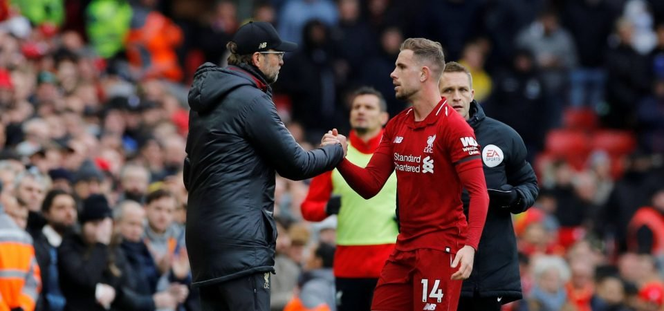 Liverpool fans drool over Jordan Henderson's impact in new-look role