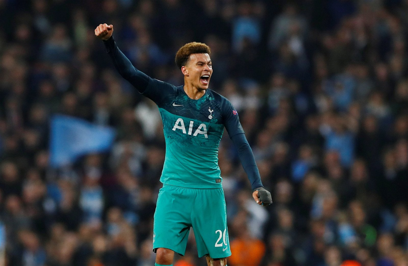"Dele Alli celebrates Tottenhams win at the Etihad Stadium - LFC could've transformed £46.8m-rated ""freak of a talent"", Gerrard wishes he'd signed – opinion"
