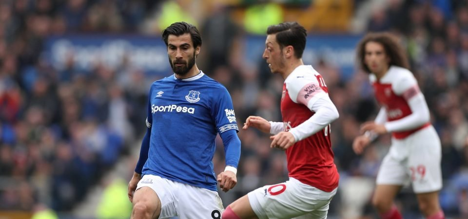Sheer class: Everton fans praise Andre Gomes after wonderful Arsenal display