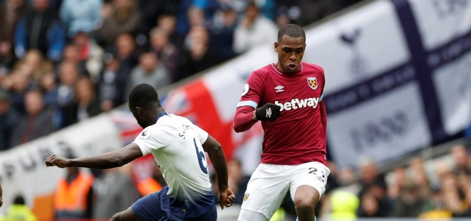 West Ham fans wax lyrical over Diop display