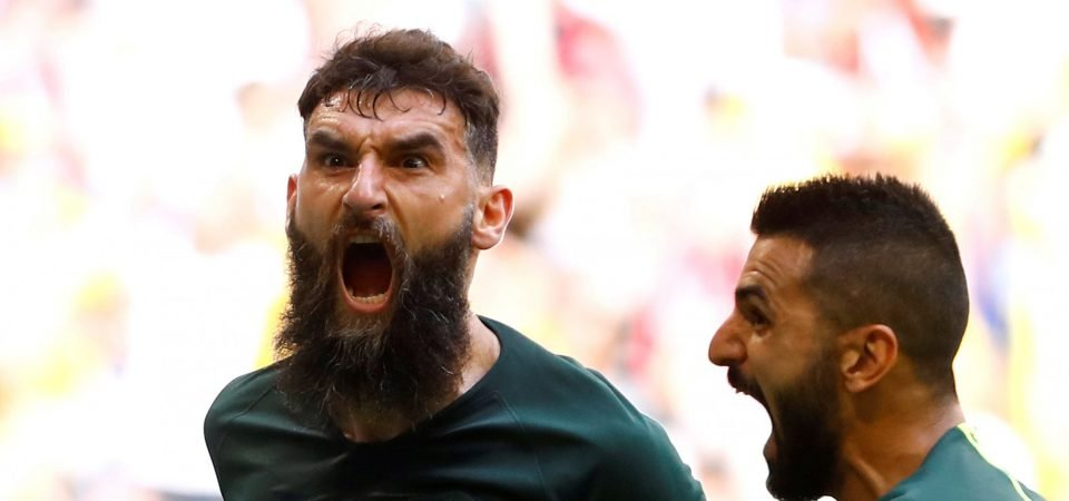 Crystal Palace fans react as Mile Jedinak is spotted in away end versus Spurs