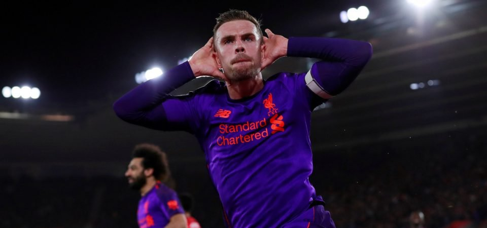Liverpool fans love Henderson's performance