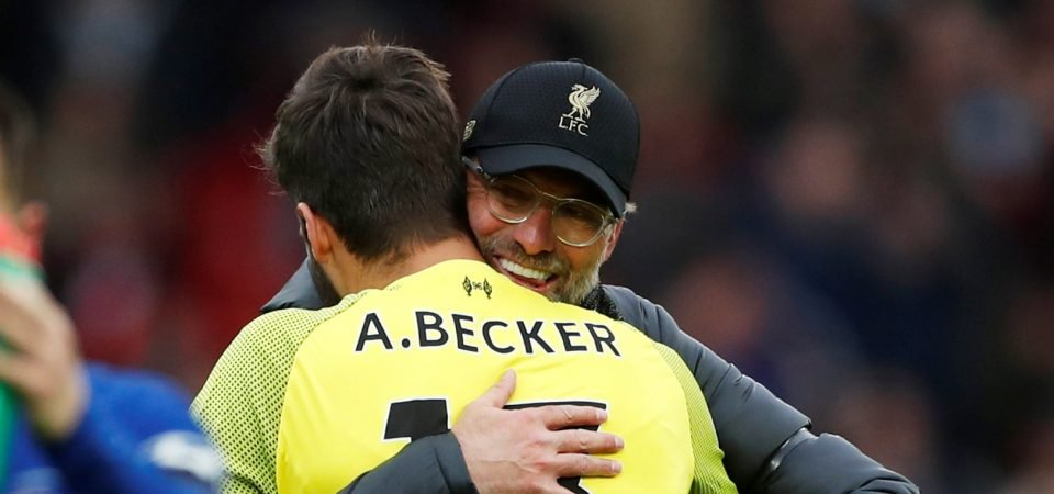 Liverpool Twitter goes berserk as Klopp confirms Alisson return