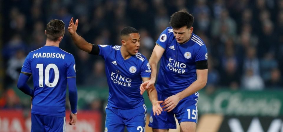 Two possible lineups if Maguire and Tielemans both leave Leicester