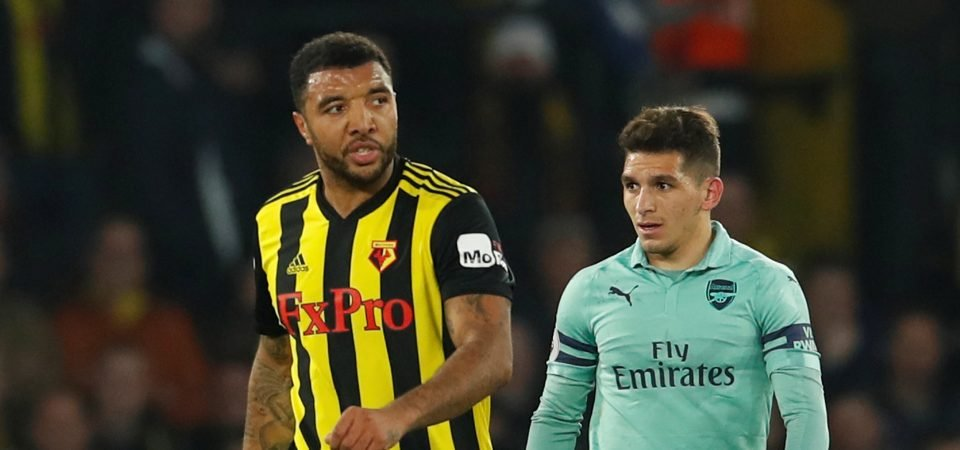 [IMAGE] Arsenal fans will love photo of Troy Deeney following red card against them