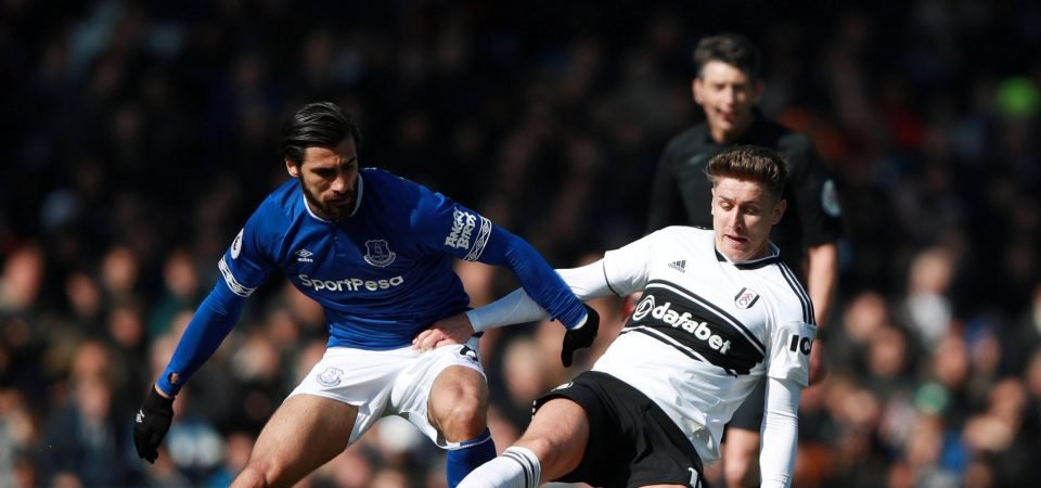 Disgraceful: Everton fans are livid after Andre Gomes is hit with three-game ban