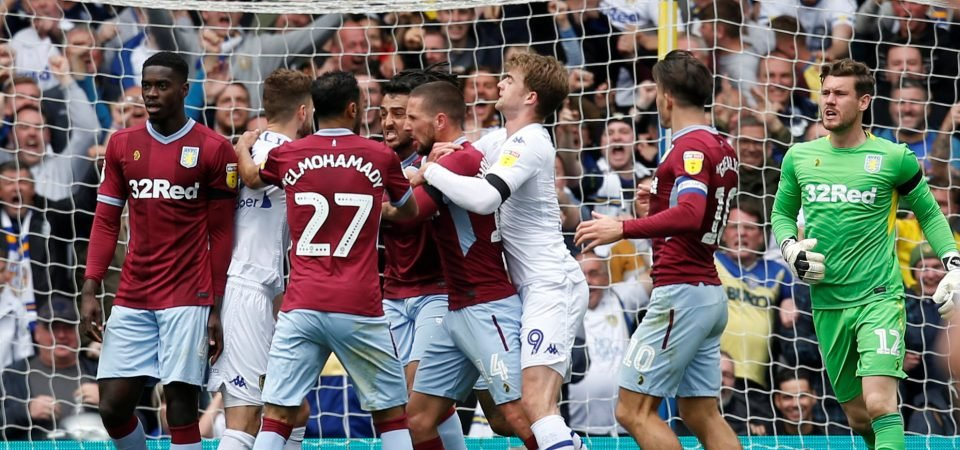 Image: How Dean Smith and Tyrone Mings reacted after controversial Leeds clash