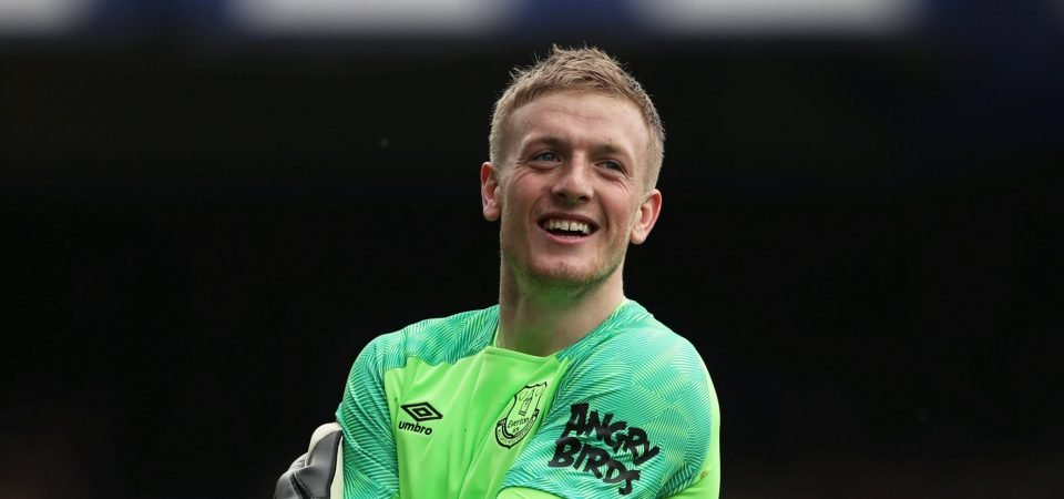 "Everton's Jordan Pickford was ""absolutely outstanding"" for England, says Paul Robinson"