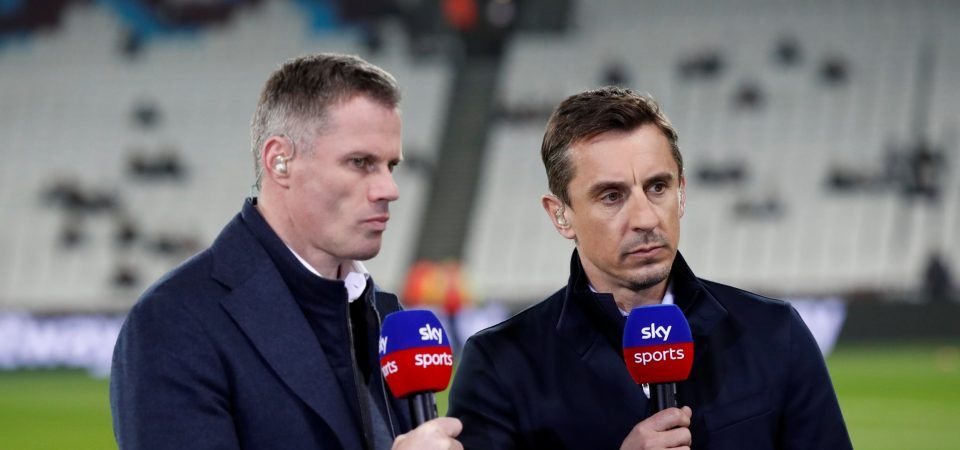 Jamie Carragher takes dig at both Neville brothers on Twitter
