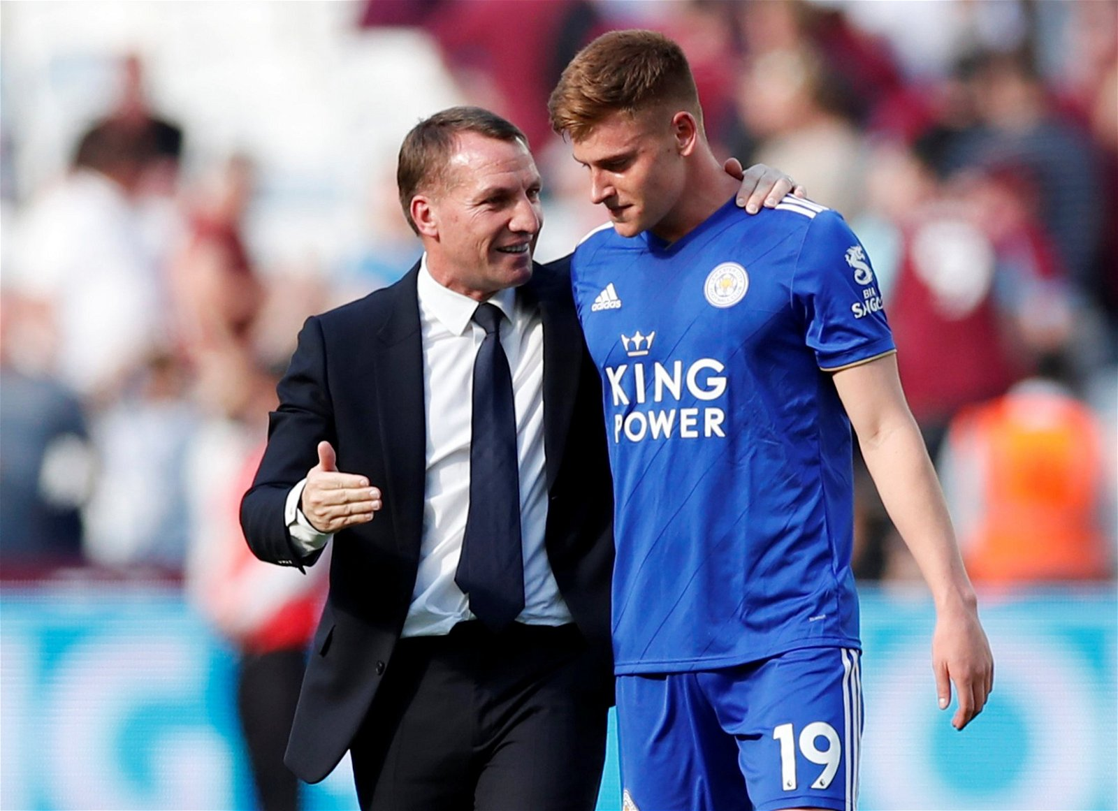 2019 04 20T160039Z 1318965112 RC13D700AF40 RTRMADP 3 SOCCER ENGLAND WHU LEI - Opinion: Leicester City's PL supremacy in one major aspect could eventually haunt Rodgers