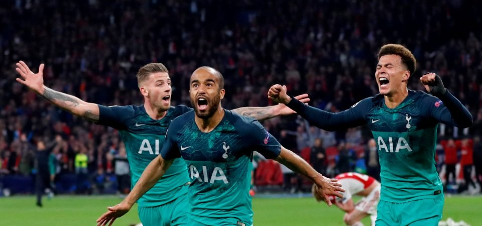 Build that man a statue: Tottenham fans lose it over Lucas Moura treble