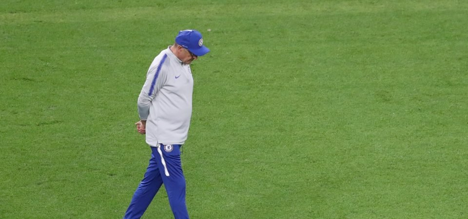 Maurizio Sarri storms out of training as Chelsea prepare for Europa League Final