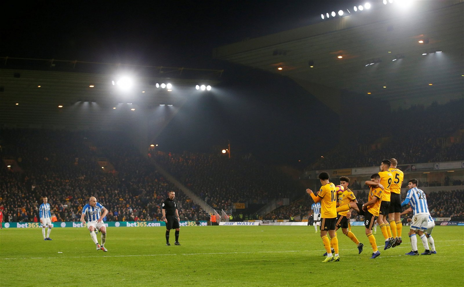 Aaron Mooy free kick vs Wolves - [Image] - The photo that proves three-goal Wolves target could rival Ruben Neves next season