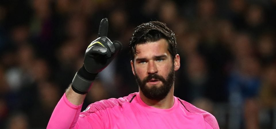 Liverpool's Alisson tweets his admiration for a fan's tattoo of him