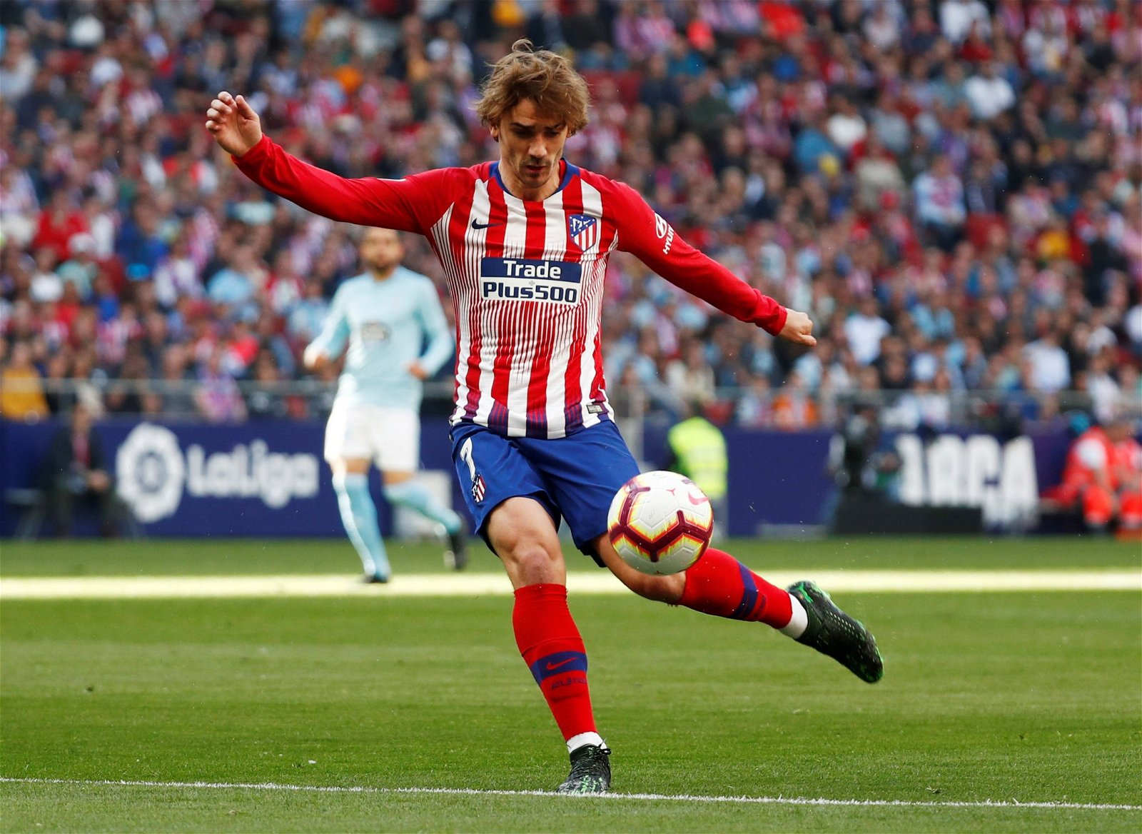 Antoine Griezmann in action for Atletico Madrid