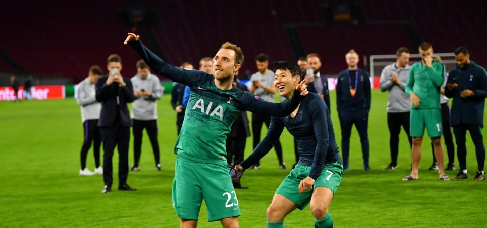The photo from Ajax win that shows how much Tottenham mean to Christian Eriksen