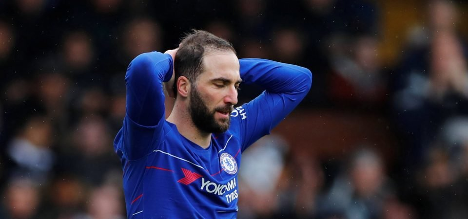 Chelsea supporters plead for Higuain departure after training ground strop
