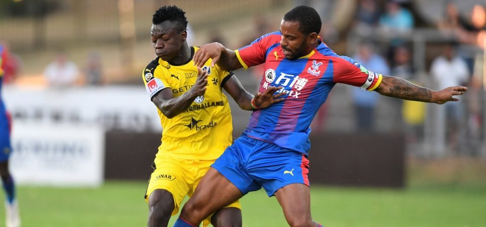 Crystal Palace fans react as Jason Puncheon scores for the U23s