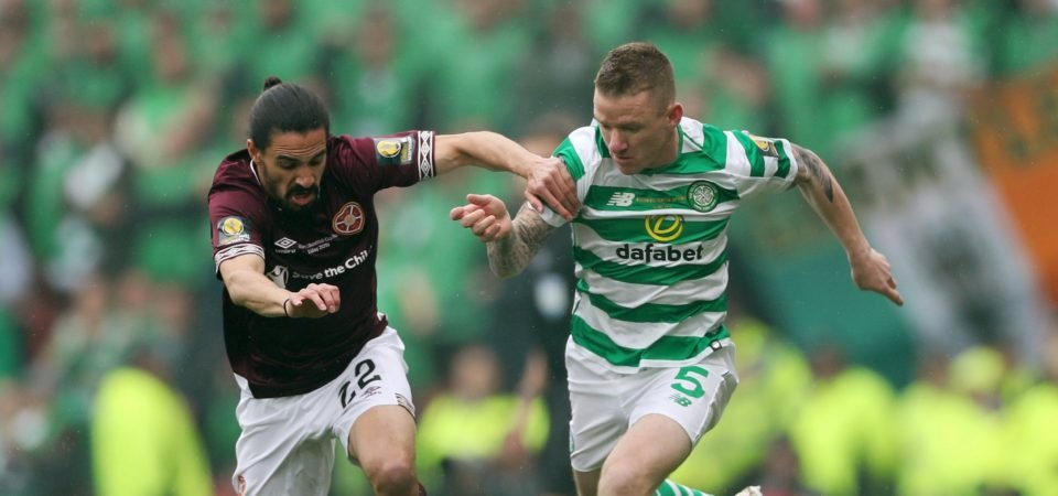 Celtic fans loved the performance of Jonny Hayes during Saturday's cup final