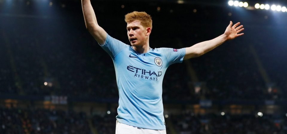 Kevin De Bruyne in full holiday spirits after being crowned the champion of England