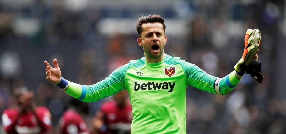 West Ham fans hoping Fabianski isn't out for too long after being forced off