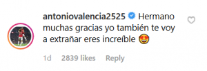 "Screenshot 22 e1557917487749 300x103 - ""One of the best"": David De Gea sends message to Antonio Valencia on Instagram"