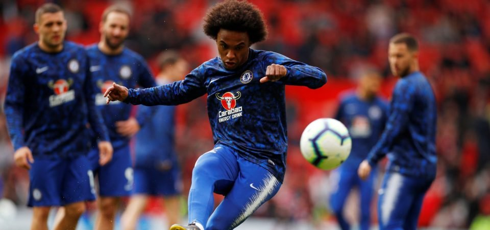 Barcelona signing Chelsea's Willian would make life difficult for Ousmane Dembele