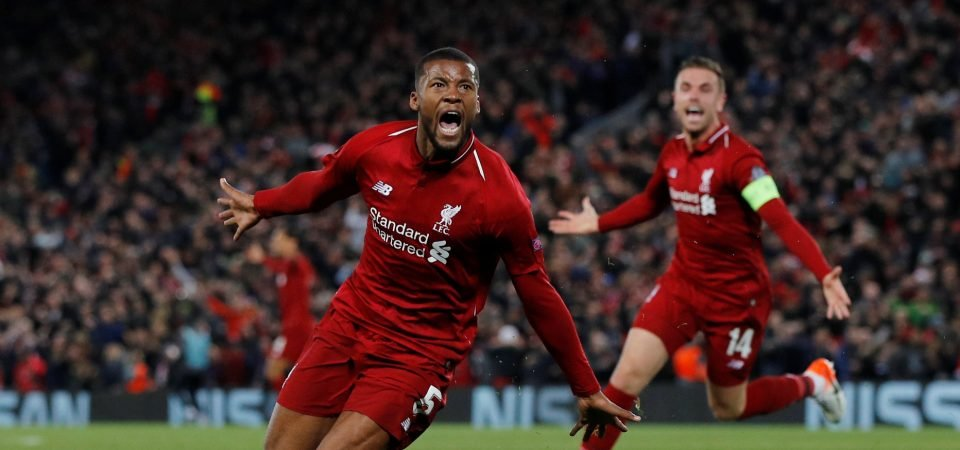 Liverpool's Georginio Wijnaldum could see role change amid international form