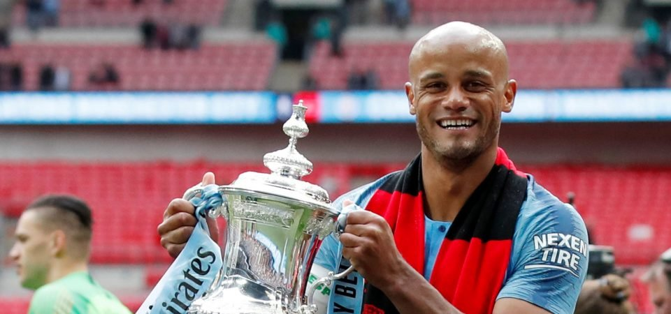 Farewell legend: Man City fans pay tribute to the departing Vincent Kompany