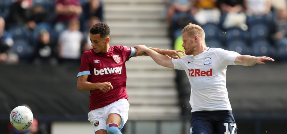 West Ham fans want Nathan Holland in the first team