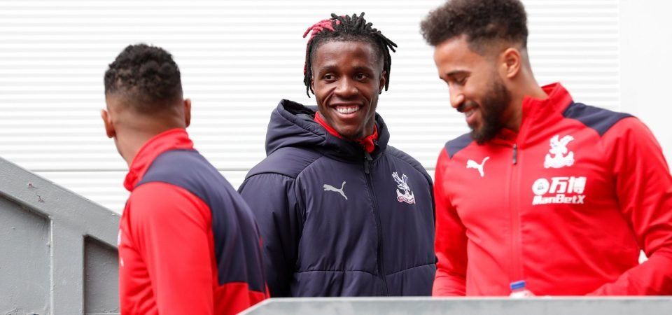 Crystal Palace players' relationship with Wilfried Zaha seems fine despite transfer chaos