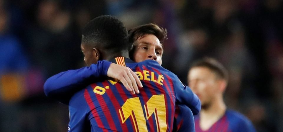 Barcelona's main man Lionel Messi urges Ousmane Dembele to be more professional