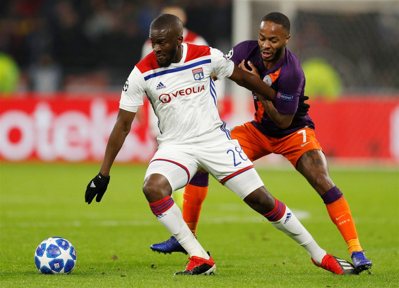 Tanguy Ndombele in action for Lyon