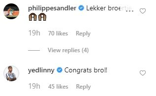 Premier League stars new and old send messages to Man City ace on Instagram