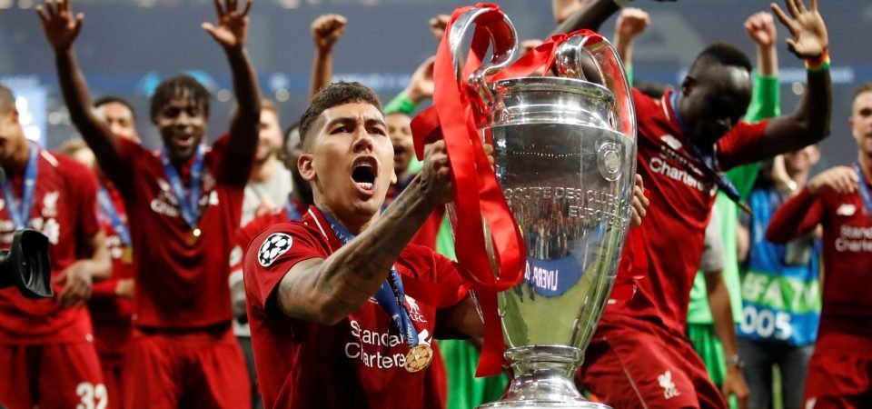 Roberto Firmino shows off his new look at Liverpool's trophy parade