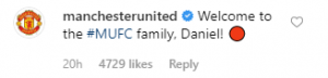 """manchester united comment 300x72 - Diogo Dalot responds to Dan James' """"biggest football club in the world"""" Instagram snap"""