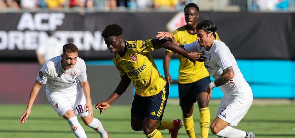 Arsenal attacker Bukayo Saka proving Unai Emery made a mistake last season