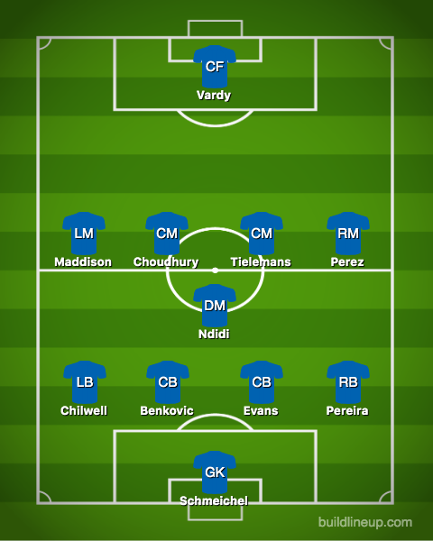 Most Likely Leicester XI