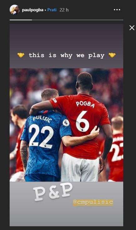 """This is why we play"" – Paul Pogba shares uplifting Instagram snap with Christian Pulisic"