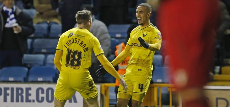Kemar Roofe reacts to ex-teammate John Lundstram's first Premier League goal