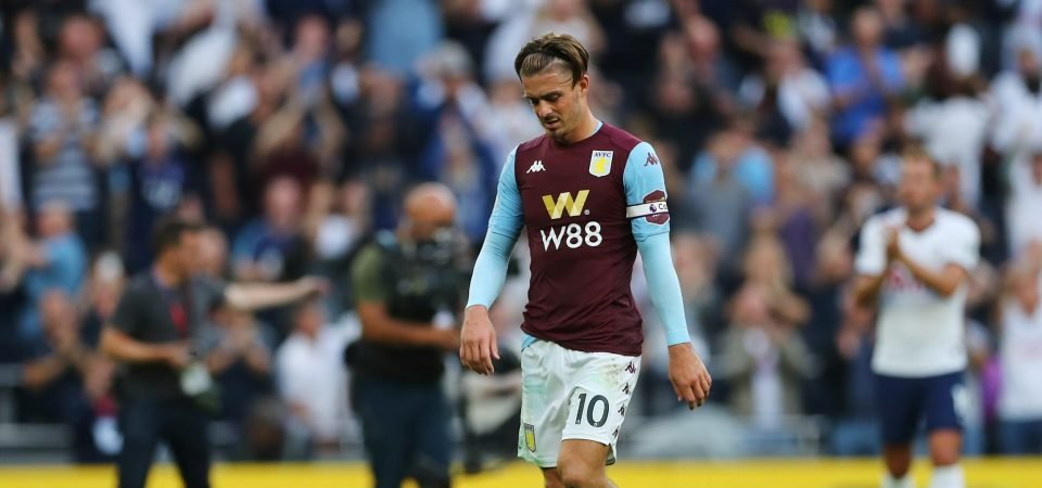 Aston Villa fans in support of Jack Grealish following Spurs defeat