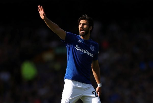 online store 3930d a63aa Andre Gomes and Yerry Mina show off Everton third kit on ...