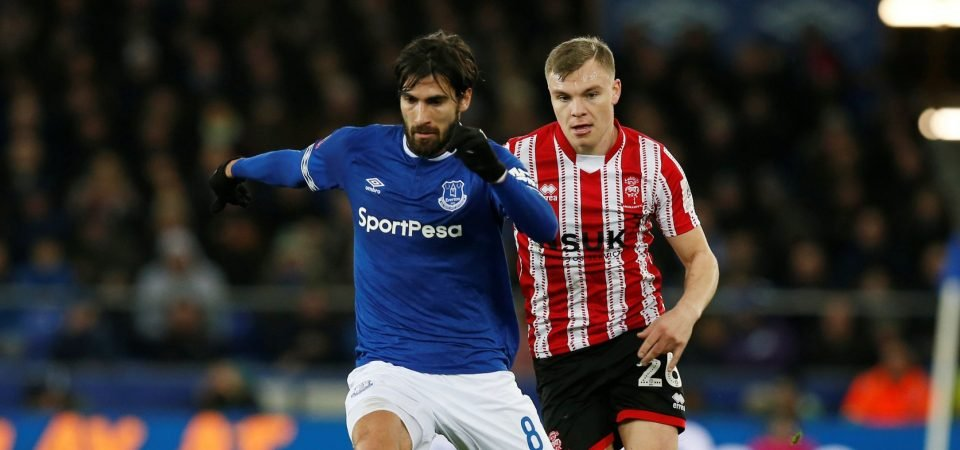Victor Anichebe reacts to training ground footage of Andre Gomes