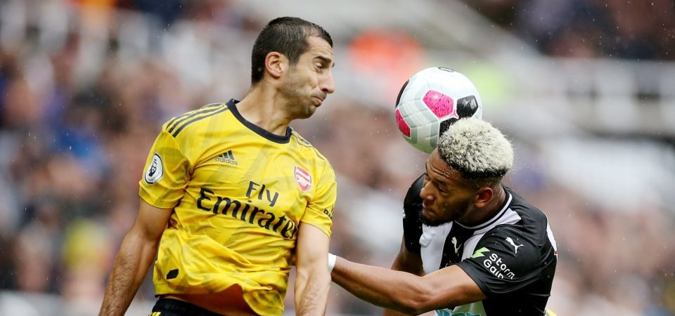 Arsenal fans rip into Henrikh Mkhitaryan after opening clash against Newcastle